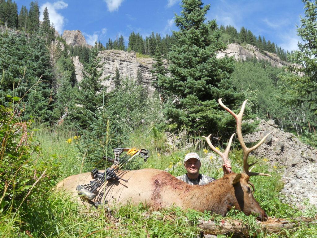 Wilderness backcountry archery elk
